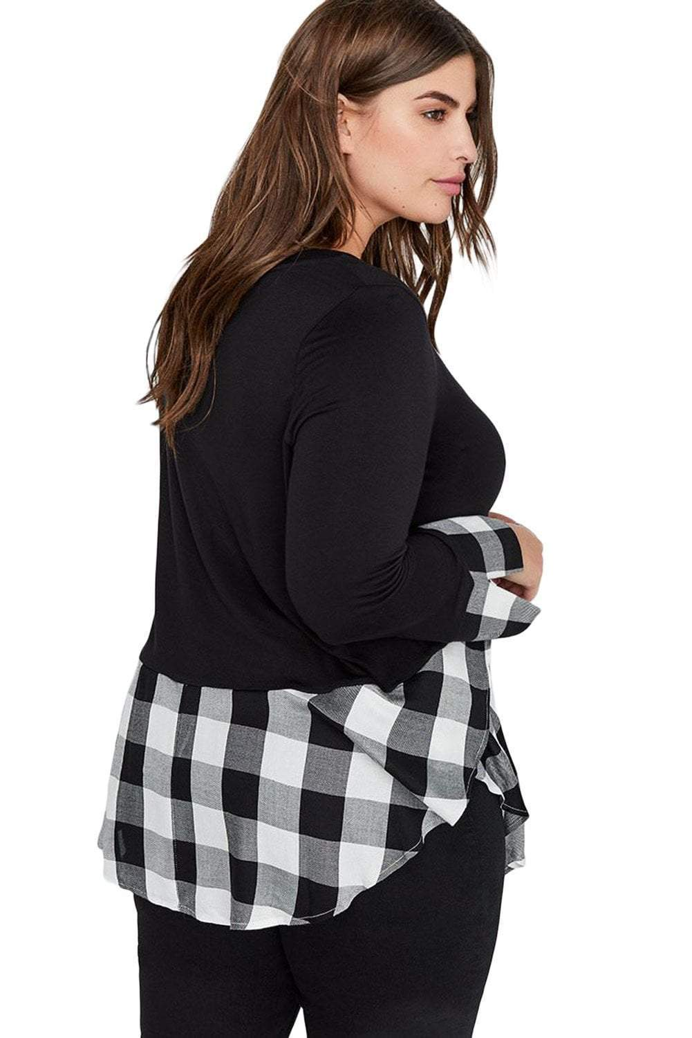plus size Blouse & Shirt XL / AUS 14 - 16 / Black Sarah Top
