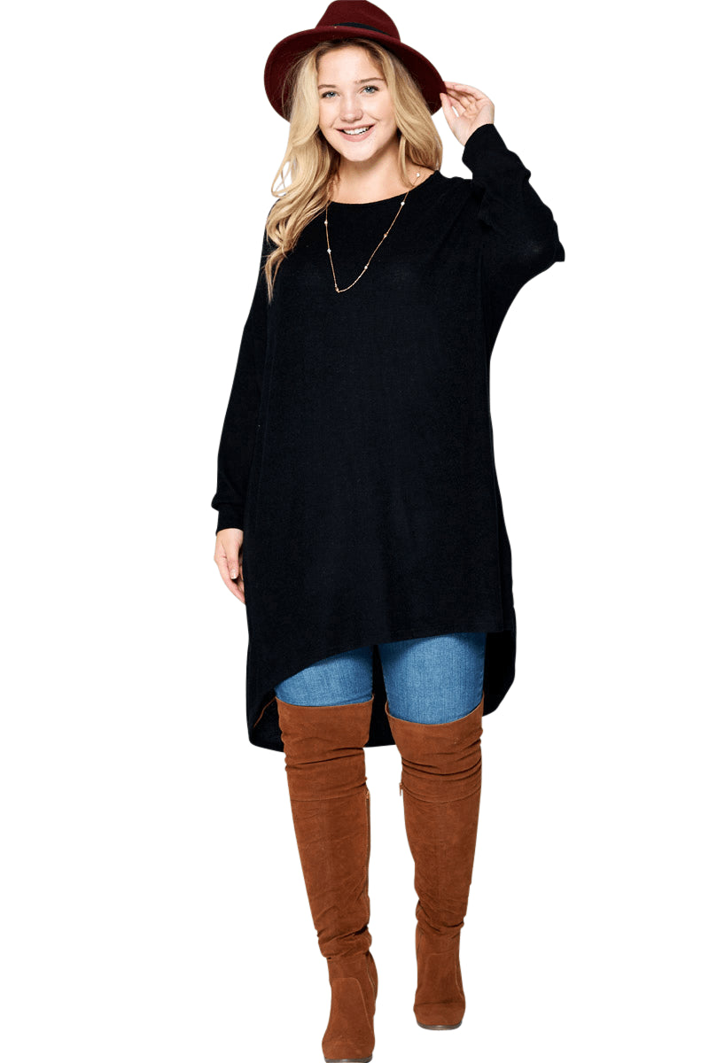 plus size Blouse & Shirt XL / AUS 16 / Black aa. Sabrina Tunic Top