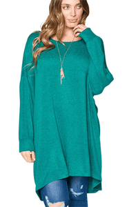 plus size Blouse & Shirt XL / AUS 16 / Green aa. Sabrina Tunic Top - Green