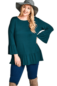 plus size Blouse & Shirt XL / AUS 16 / Hunter Green aa. Dani Top