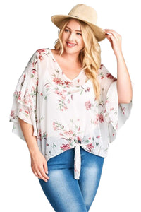 plus size Blouse & Shirt XL / AUS 16 / Pink & White aa. Cobie Top