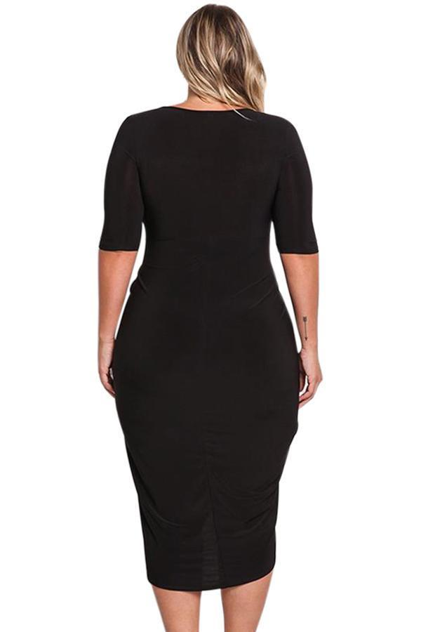 plus size Bodycon Dress Black / 2XL / AUS 16 - 18 Teneille Bodycon Dress