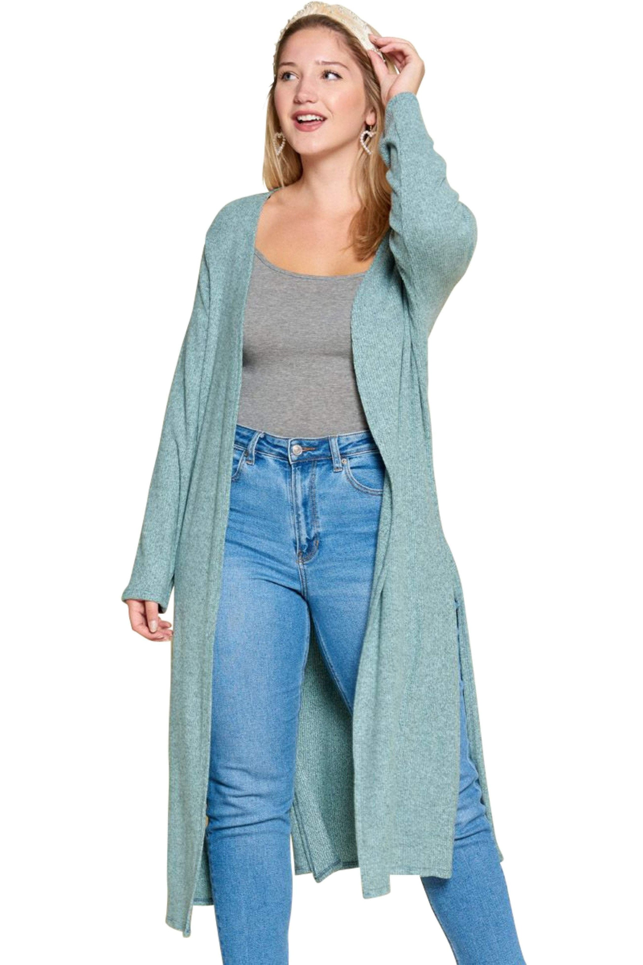 plus size Jacket aa. Eleanor Cardigan - Ice Blue