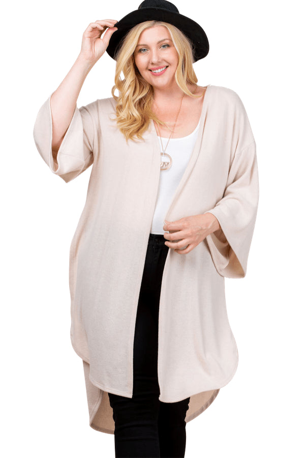 plus size Jacket aa. Leah Cardigan