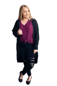 plus size Jacket L / AUS 14 - 16 Jenny Long Cardigan - CLEARANCE