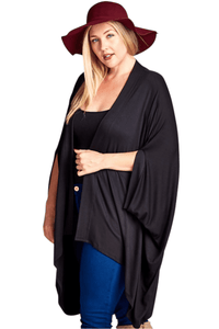 plus size Jacket One Size / Black Madison Cardigan