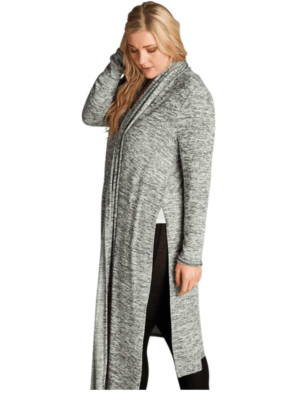 plus size Jacket XL / AUS 16 - 18 / Grey Hailey Cardigan - Grey