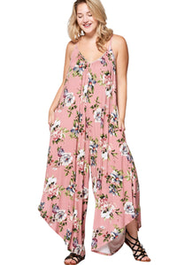 plus size Jumpsuit Bonnie Jumpsuit - Floral Pink