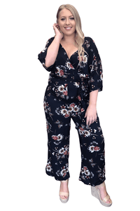 plus size Jumpsuit L / AUS 16 / Navy Blue Nina Jumpsuit