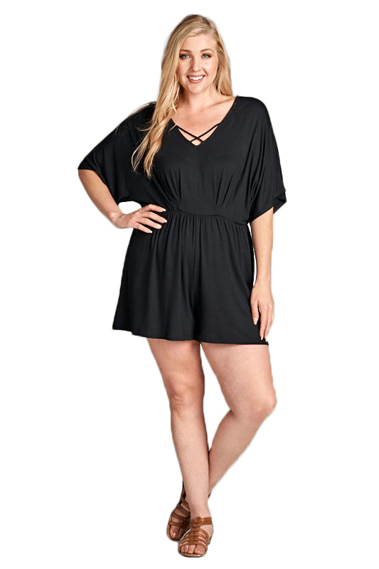 plus size Jumpsuit XL / AUS 16 / Black Stevie Playsuit