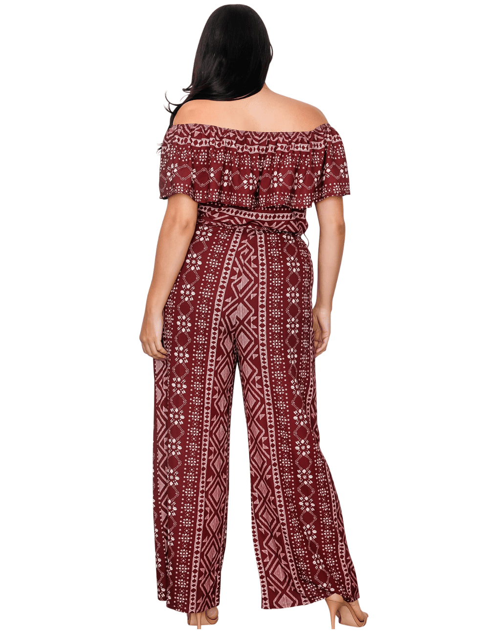 plus size Jumpsuit XL / AUS 16 / Burgundy Red Maya Jumpsuit