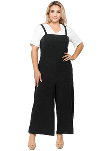 plus size Jumpsuit XL / AUS 16 / Dark Grey Milla Overall Jumpsuit