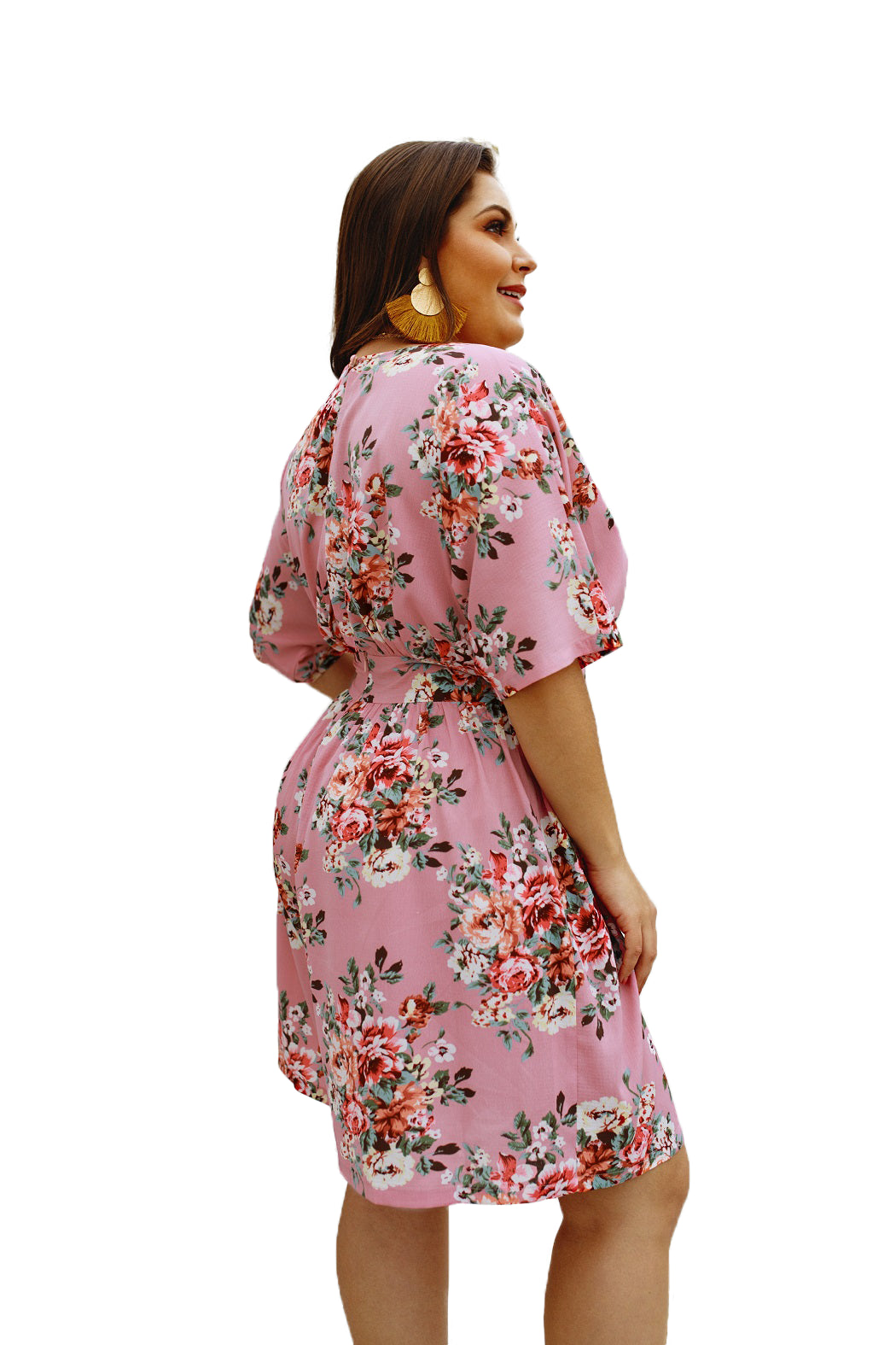 plus size Jumpsuit XL / AUS 16 / Pink Brittany Playsuit