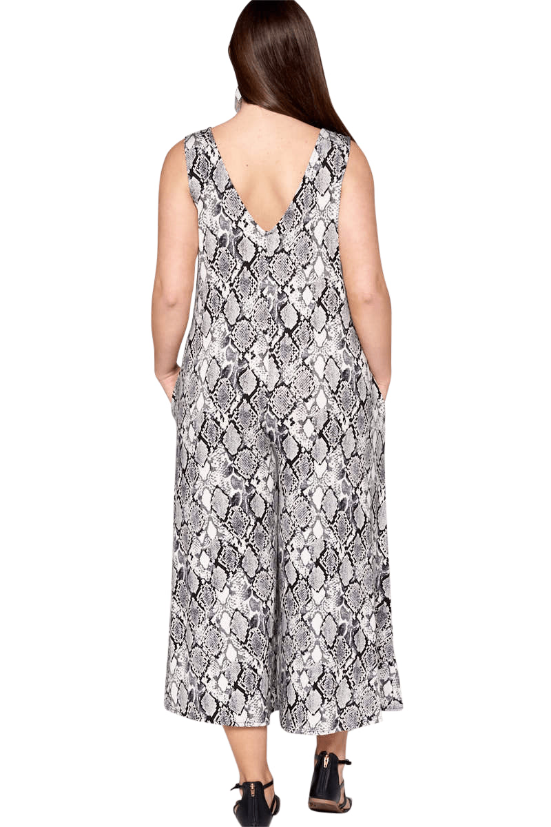 plus size Jumpsuit XL / AUS 16 / Snake Grey aa. Hallie Jumpsuit