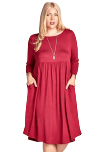 plus size Long Sleeve Dress aa. Claudia Dress