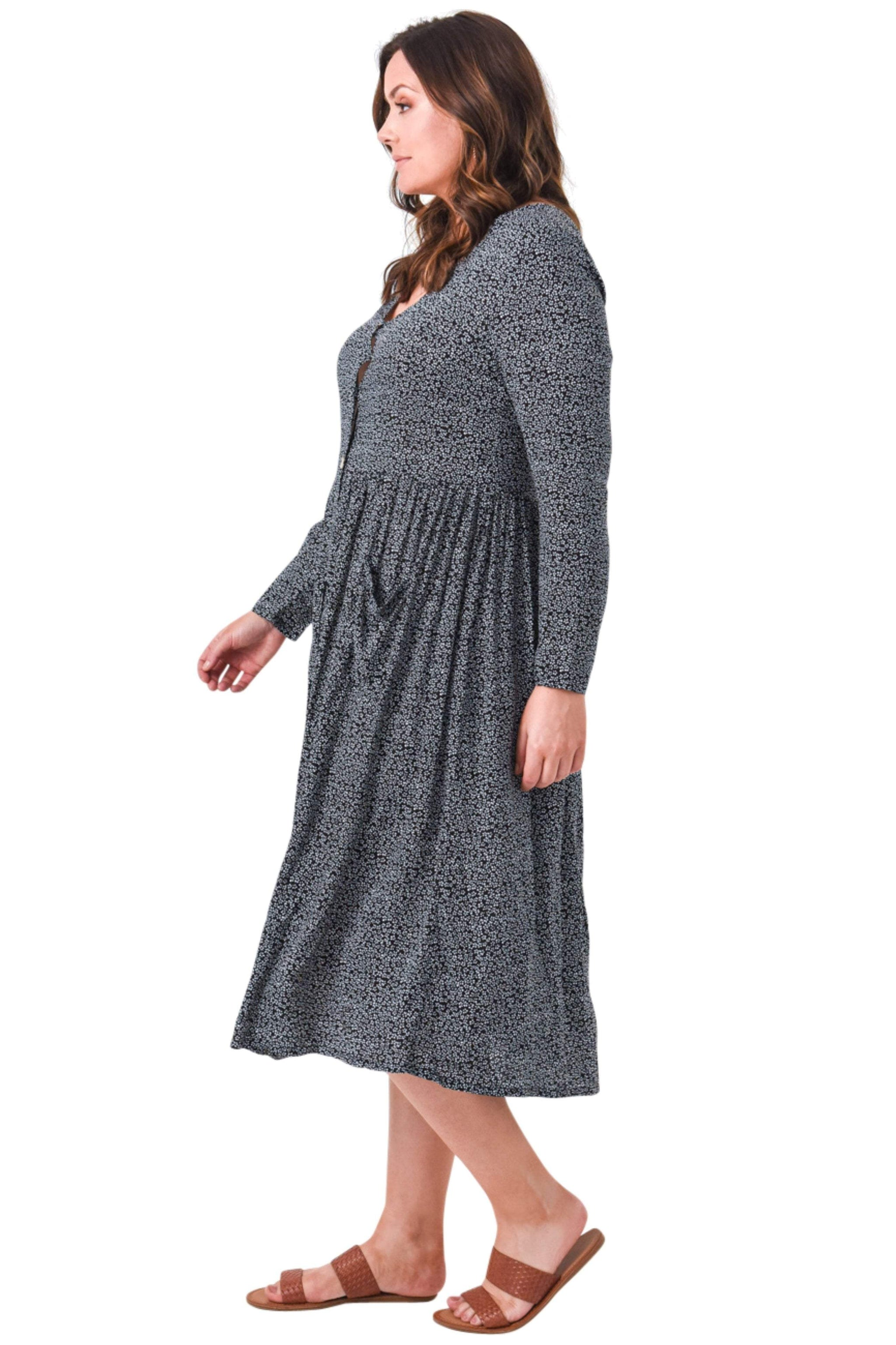 plus size Long Sleeve Dress aa. Louise Dress