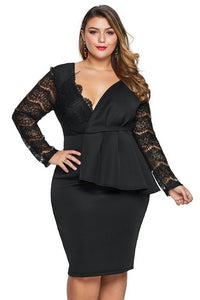 plus size Long Sleeve Dress Francesca Dress