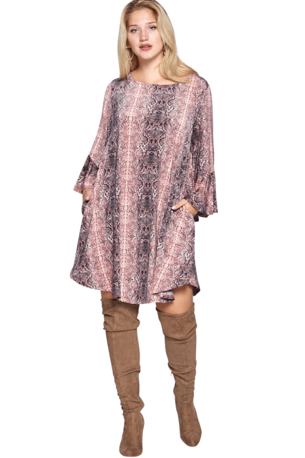 plus size Long Sleeve Dress Jayda Dress
