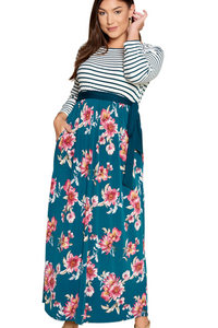 plus size Maxi Dress aa. Davina Dress - Jade