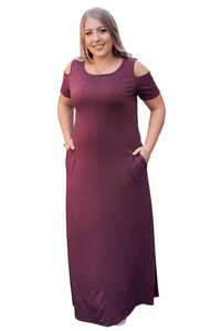 plus size Maxi Dress L / AUS 14 / Purple Carrie Maxi Dress - CLEARANCE
