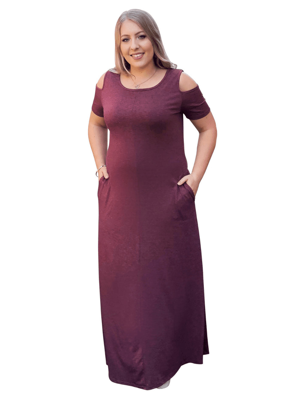 a82ff22b95 plus size Maxi Dress L / AUS 14 / Purple Carrie Maxi Dress - CLEARANCE ...