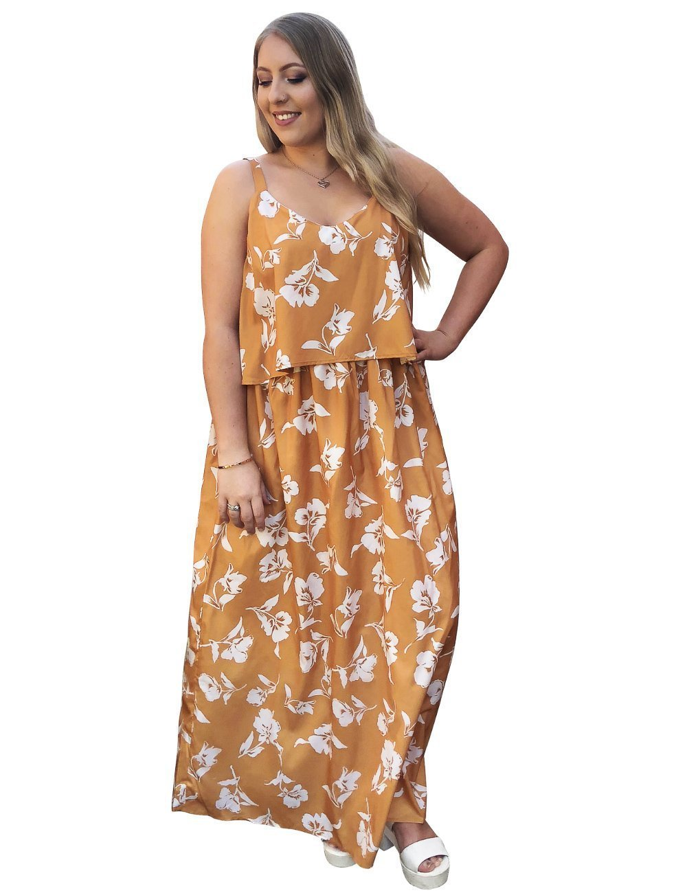 d440b380a5 plus size Maxi Dress L / AUS 16 / Mustard Yellow Willow Maxi Dress -  CLEARANCE ...