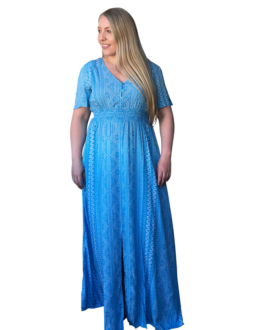 plus size Maxi Dress L / AUS 16 / Sky Blue Nikita Maxi Dress