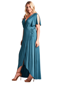 plus size Maxi Dress Layla Maxi Dress - Antique Blue