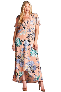 plus size Maxi Dress XL / AUS 14 - 16 / Apricot Layla Maxi Dress