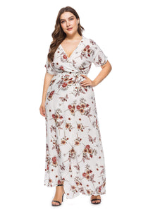 plus size Maxi Dress XL / AUS 14 / White Trixie Dress