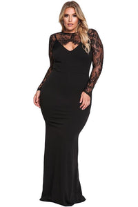 plus size Maxi Dress XL / AUS 16 - 18 Bridget Lace Bolero Gown
