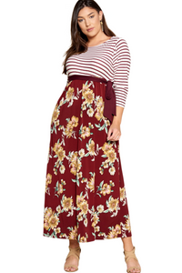 plus size Maxi Dress XL / AUS 16 / Burgundy Red aa. Davina Dress - Burgundy