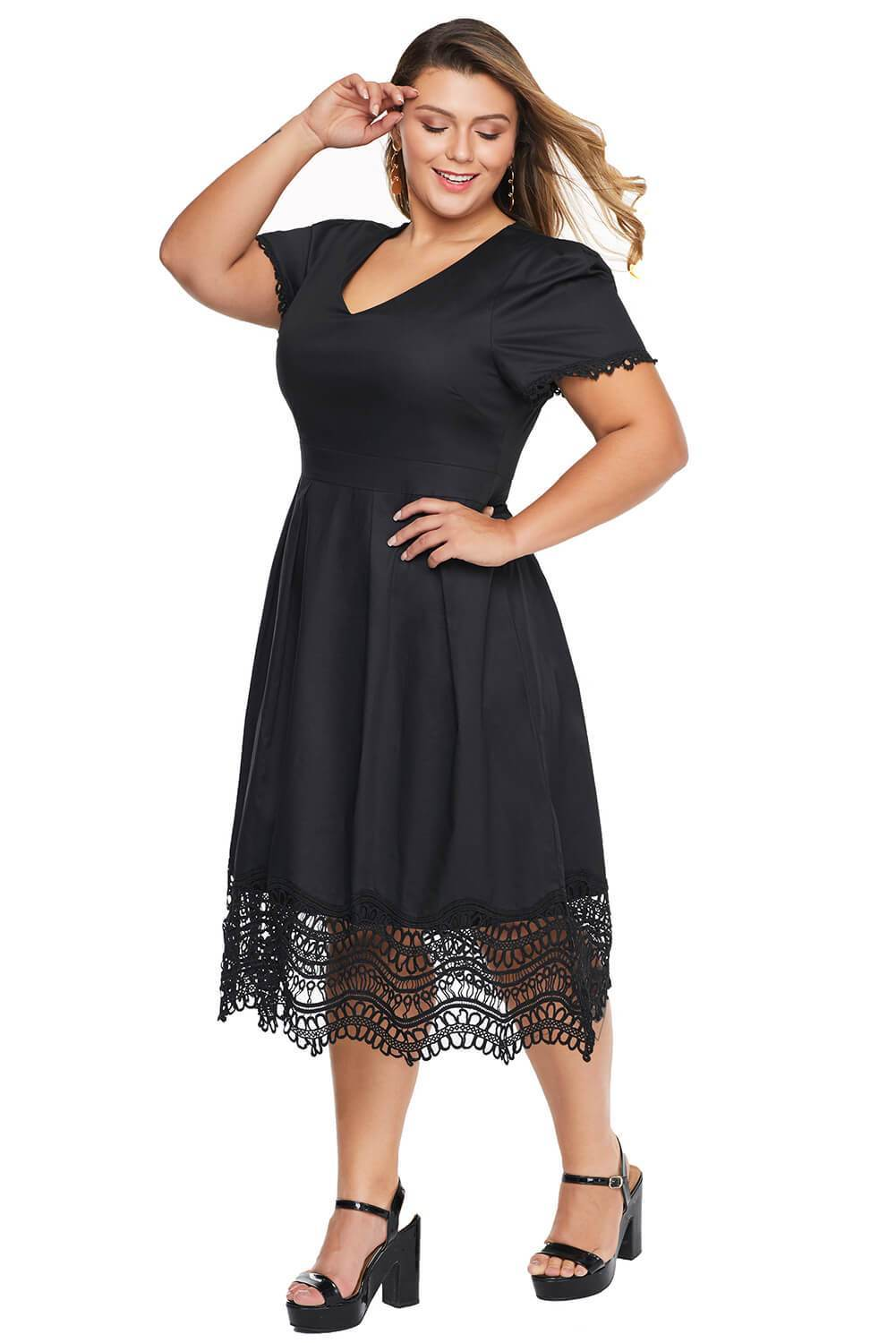 plus size Midi Dress aa. Aurora Dress