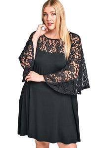 plus size Midi Dress aa. Ebony Dress