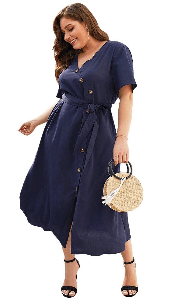 plus size Midi Dress aa. Margot Dress