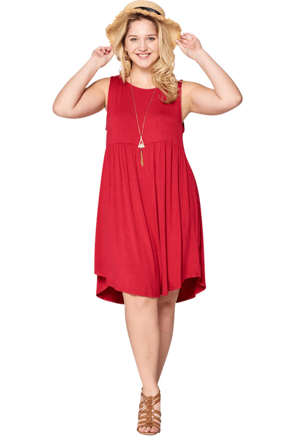 plus size Midi Dress aa. Sadie Dress - Red
