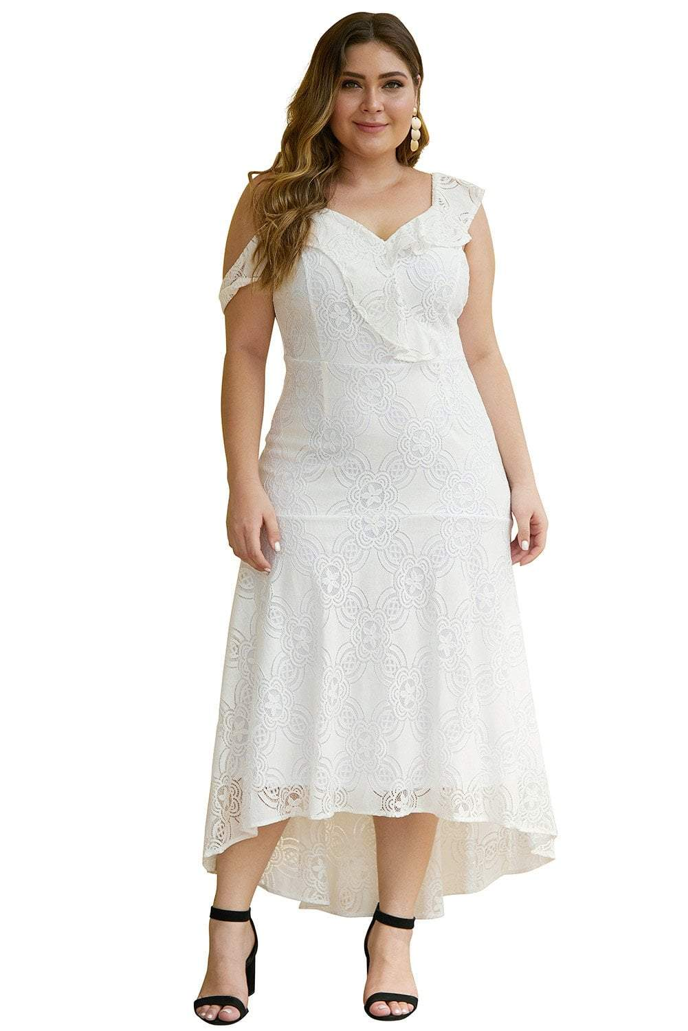 plus size Midi Dress aa. Trinity Lace Dress