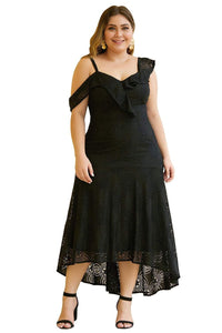 plus size Midi Dress aa. Trinity Lace Dress - Black