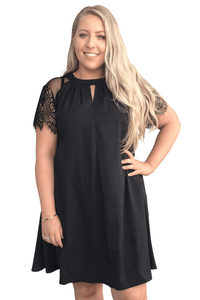 plus size Midi Dress L / AUS 14 - 16 / Black Victoria Dress