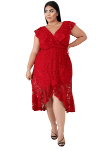 plus size Midi Dress Lauryn Dress