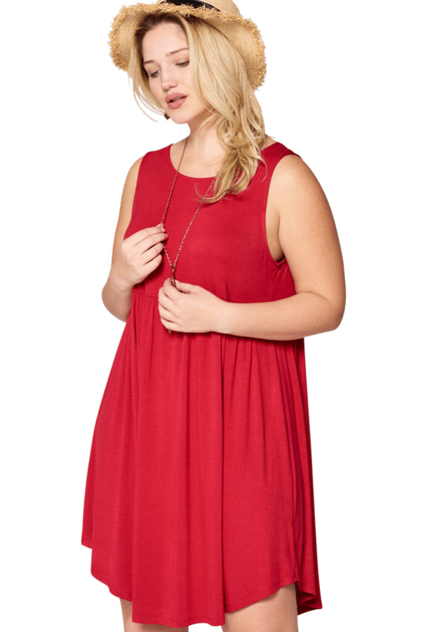 plus size Midi Dress XL / AUS 16 / Red aa. Sadie Dress - Red