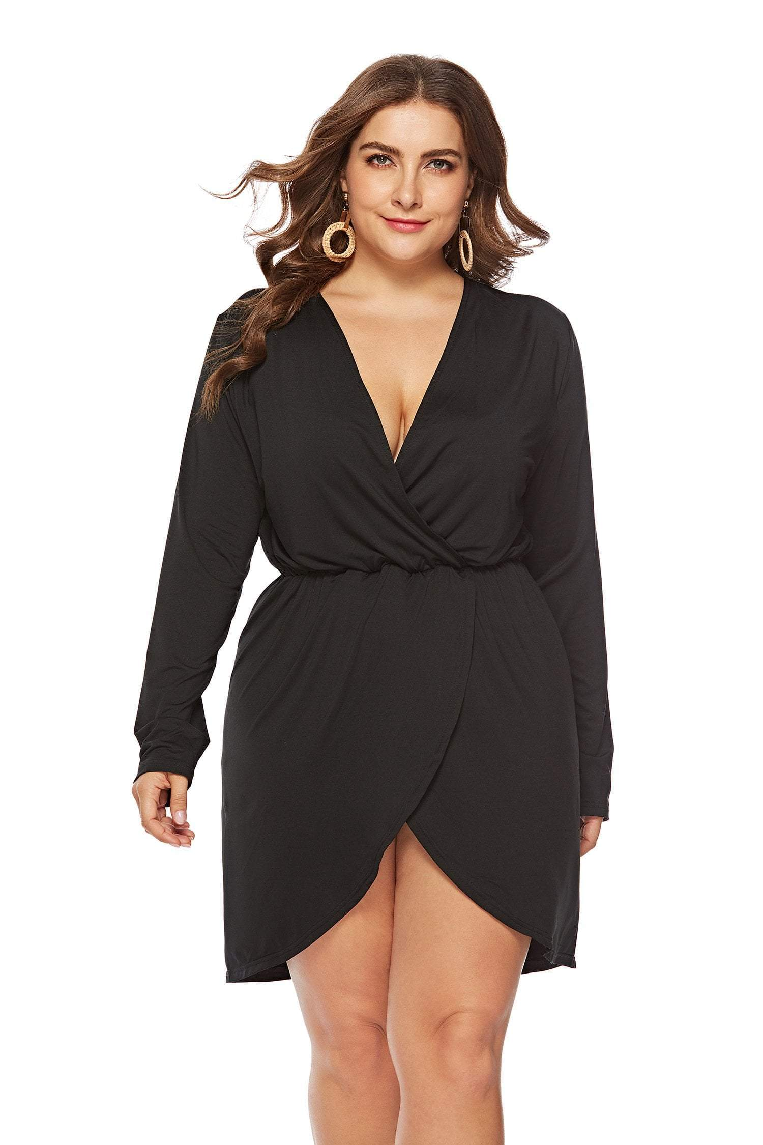 plus size Mini Dress XL / AUS 14 / Black Estelle Dress