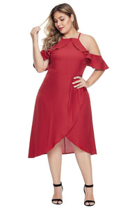 plus size Off Shoulder Dress aa. Jasmine Dress - Red