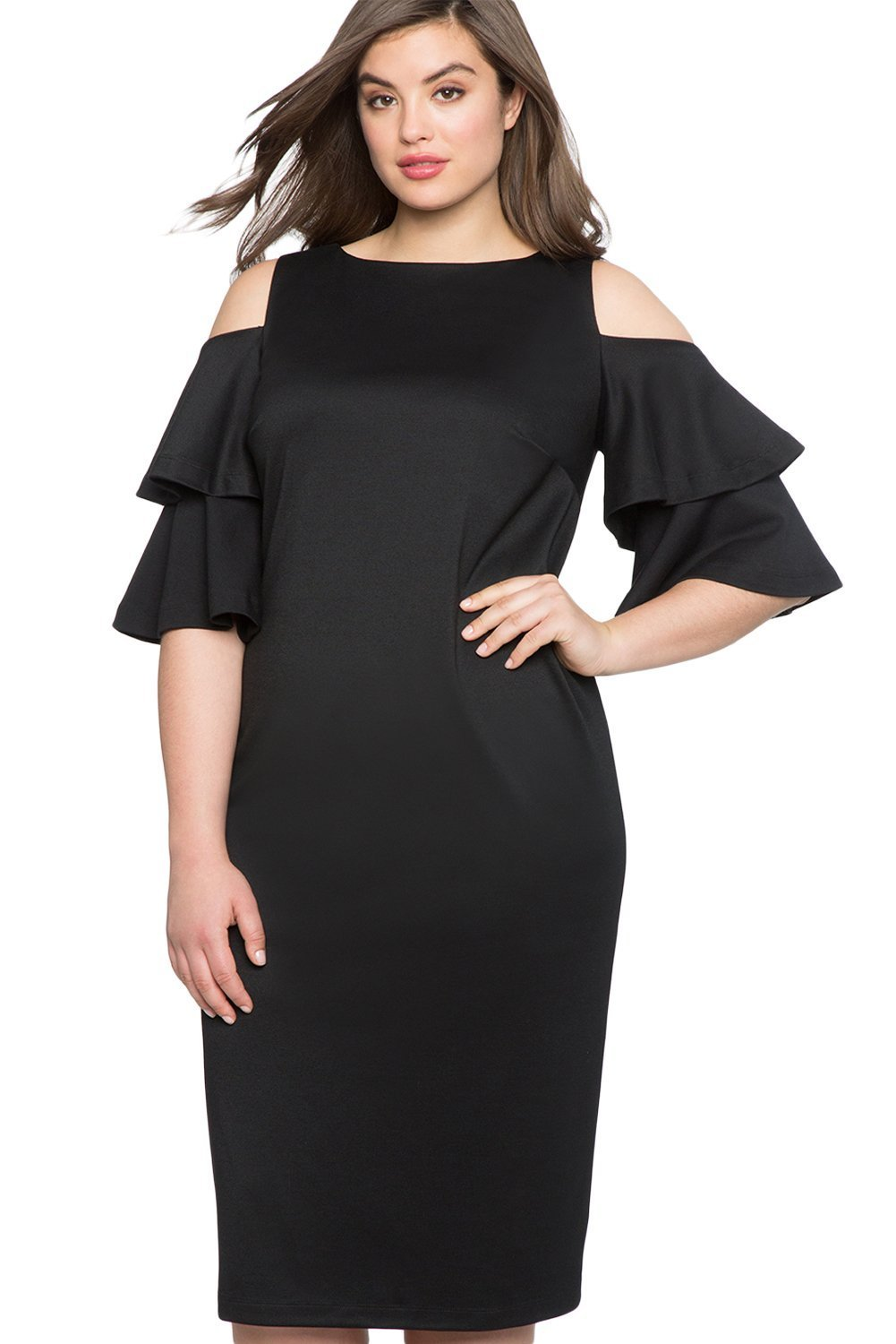 282dff8cf4b3 plus size Off Shoulder Dress XL   AUS 18   Black Krista Cold Shoulder Dress  ...