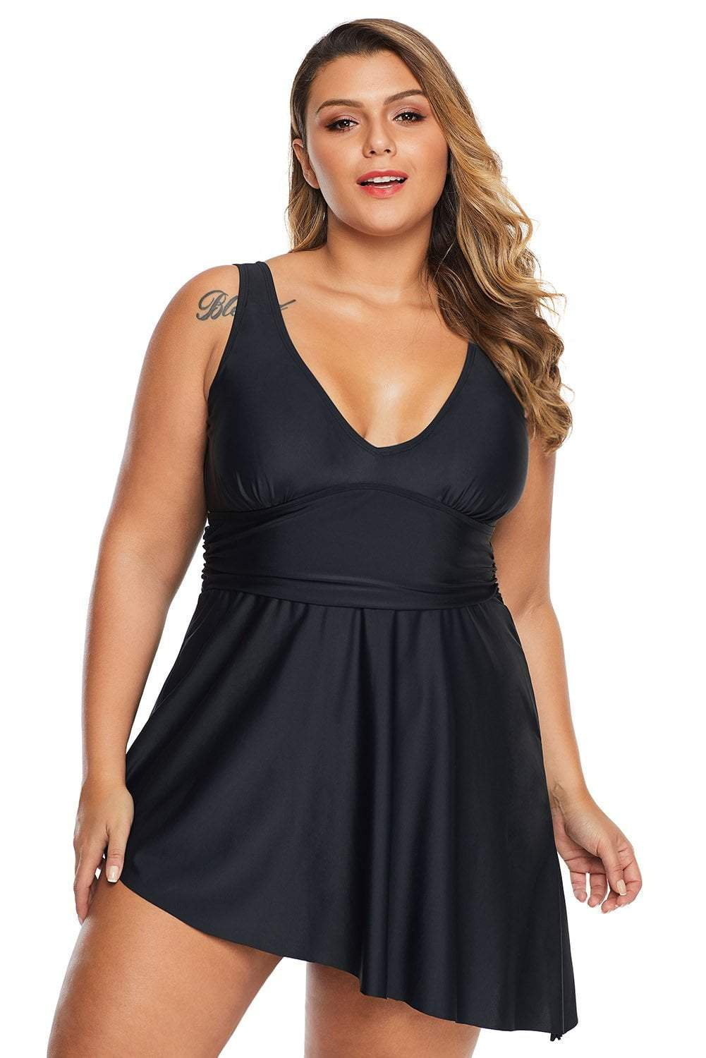 plus size One Piece L / AUS 14 / Black Keira Swim Dress