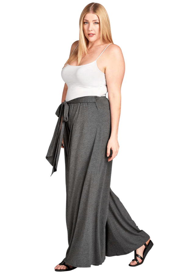 plus size Pants Josie Palazzo Pants - Charcoal