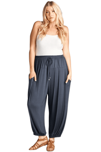 plus size Pants XL / AUS 18 / Dark Grey Darcy Harem Pants - Grey