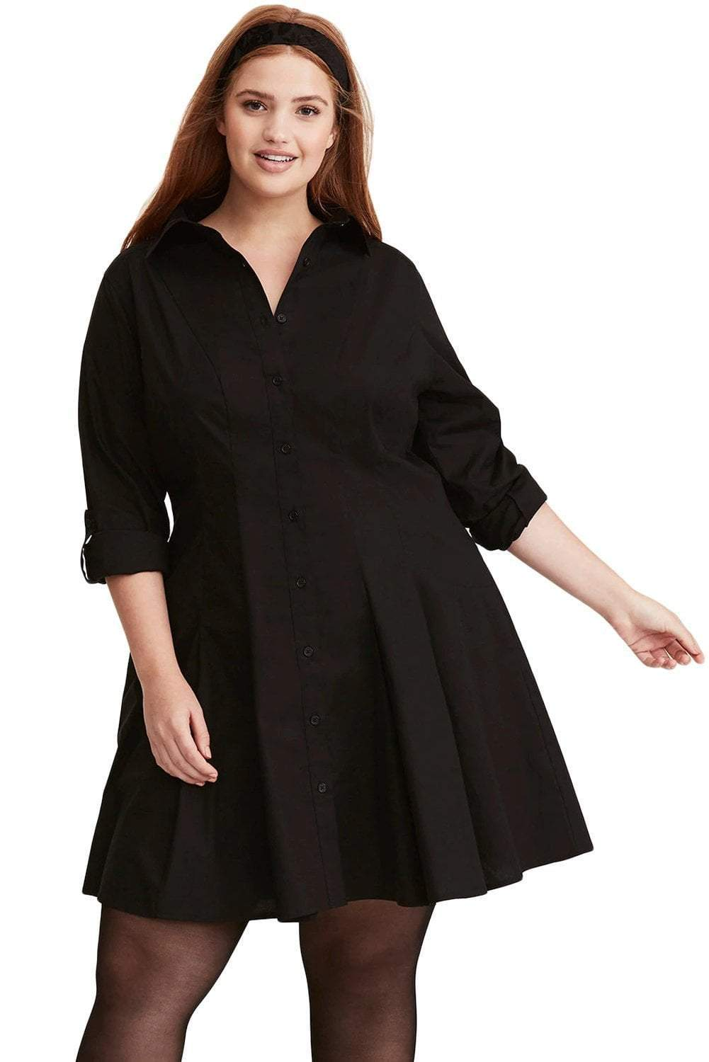 plus size Shirt Dress XL / AUS 14 - 16 / Black Kaelyn Shirt Dress
