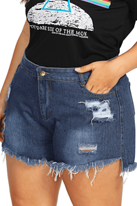 plus size Shorts L / AUS 14 / Denim Blue Katrina Denim Shorts