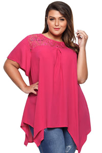 plus size T-Shirt 2XL / AUS 20 - 22 / Hot Pink zzz. Vanessa T-Shirt